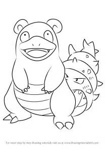 doodle drawing how to learn how to draw slowbro from step by