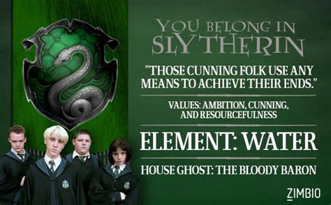 what harry potter house are you quiz i took zimbio s harry potter house quiz and i belong in slytherin