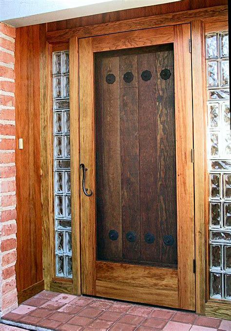 Rustic Door by Rustic Door With Screen Wgh Woodworking