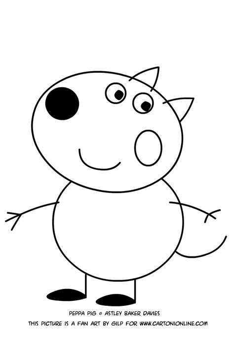 peppa pig coloring pages danny dog danny dog coloring pages