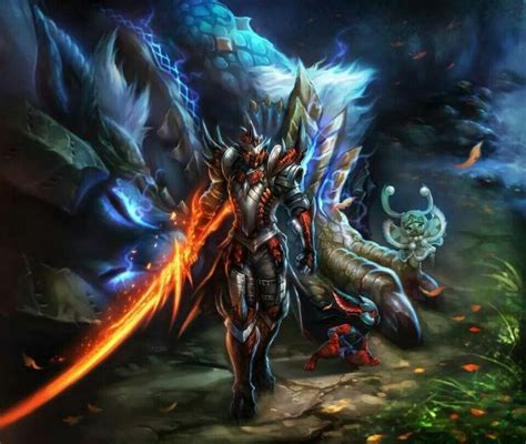 Fan Armaggeddon Azzure Blade rathalos armored with a wyvern blade quot soul quot sword and a slain zinogre