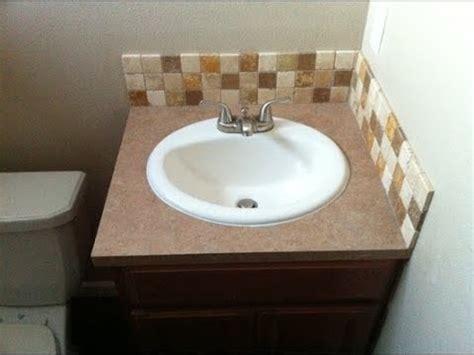 bathroom vanity backsplash youtube