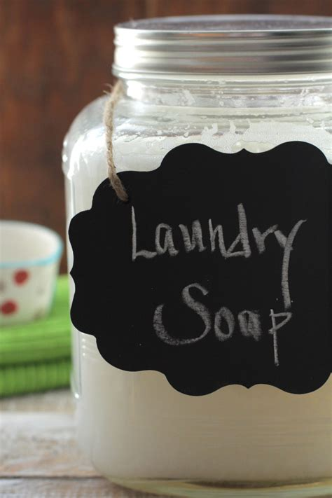 Handmade Laundry Soap - liquid laundry soap live simply