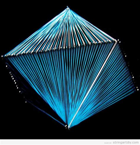 Geometric String Designs - octahedron string string diy free patterns and