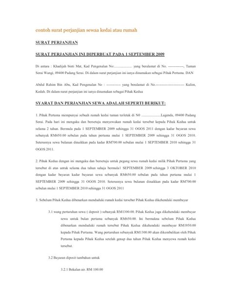 Sewa Gopro Malaysia contoh surat perjanjian sewa kedai atau rumah
