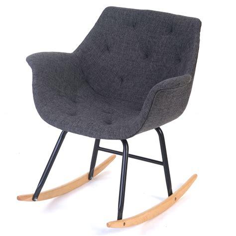 sedia a dondolo moderna sedia a dondolo moderna malm 246 t820 legno faggio e tessuto