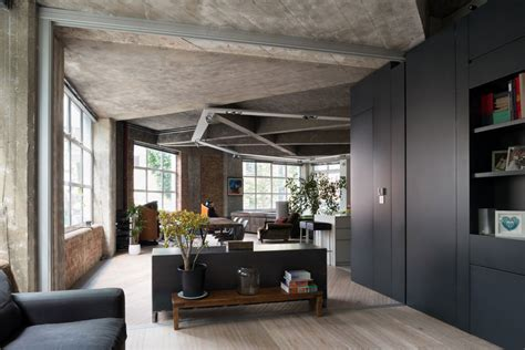 contemporary loft in london disguising its former