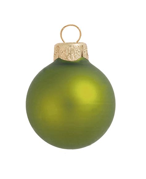 8ct matte lime green glass ball christmas ornaments 3 25