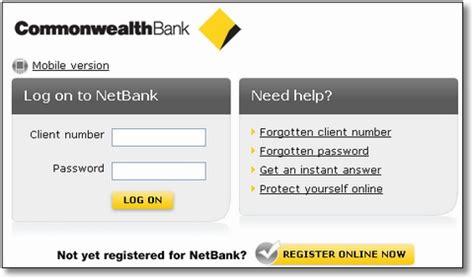 commonwealth bank banking log on pin netbank login commonwealth bank on