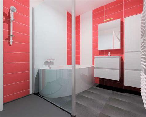 Exceptionnel Dulux Valentine Cuisine Et Salle De Bain #2: salle-de-bain-rouge-et-gris.jpg