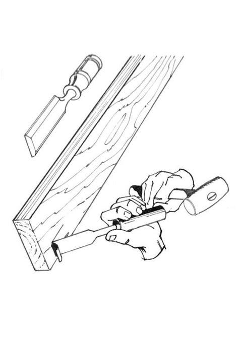 imagenes para pintar en madera dibujo para colorear carpintero con cincel img 18853
