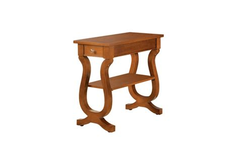 long accent tables bambi long shelf anitque oak storage accent table groupon