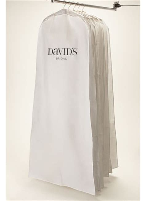 Wedding Dress Bag by White Side Zip Garment Bag Davids Bridal
