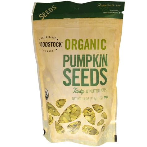 Organic Pumpkinseed woodstock farms organic pumpkin seeds 11 oz 312 g