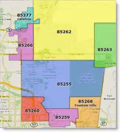 zip code map arizona scottsdale arizona new zip code map