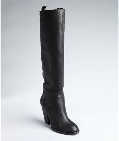 vince camuto black suede braden slip on boots in black lyst
