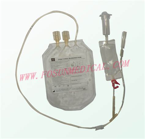 disposable single blood bag s450 china disposable