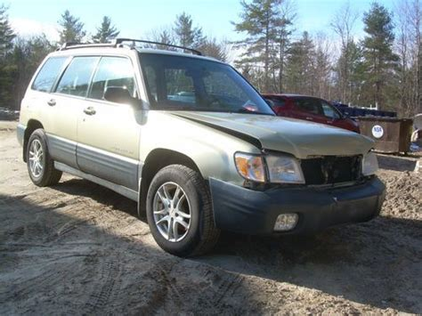 how to sell used cars 2001 subaru forester on board diagnostic system sell used 2001 subaru forester l 2 5l 5 speed salvage title clean repairable parts fix in weare