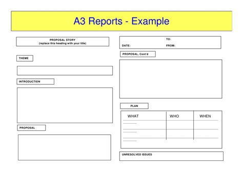 a3 report template a3 reports