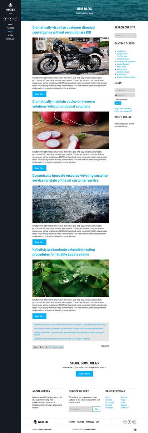 template kraken joomla rockettheme documentation