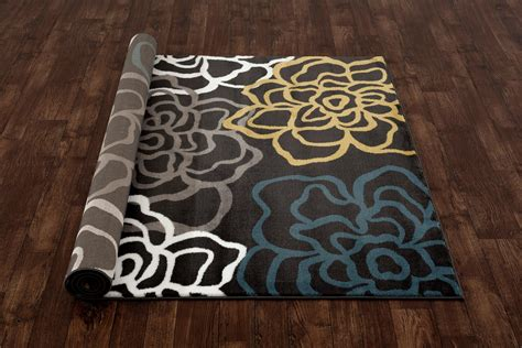 modern floral area rugs rugshop contemporary modern floral flowers area rug 7 10 quot x 10 2 quot gray kitchen
