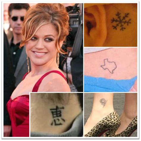 kelly clarkson tattoo clarkson tattoos celebritiestattooed