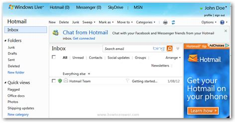 Search Hotmail Profiles By Email Change Or Update Windows Live Hotmail Profile And Privacy