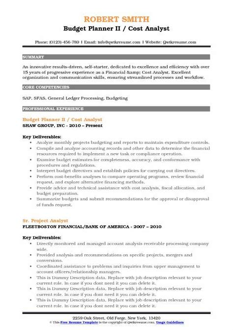 budget analyst resume summary 28 images budget analyst