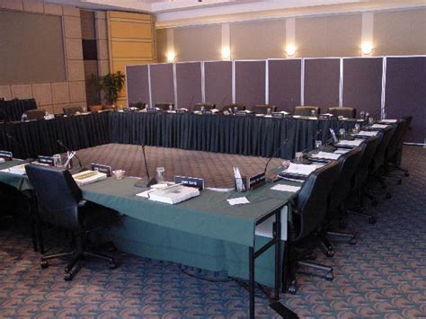 U Shape Meeting Room Setup by Global Equipment Network