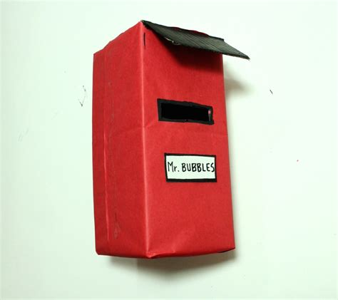 How To Make Post Box With Chart Paper - diy how to build a letterbox out of cardboard