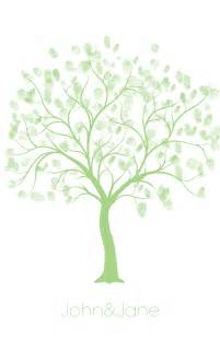 Wedding Family Tree Template by Free Wedding Thumbprint Tree Style Guest Book Thumbprint