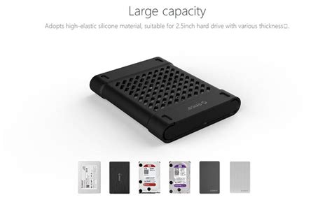Orico 2 5 Inch Silicone Protective Box For Ssd And Hdd Phs 25 Black orico 2 5 inch silicone protective box for ssd and hdd