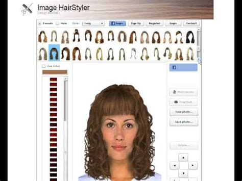 hair styles for face simulator bob haircut simulator hairstyles