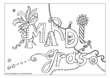 celebrate mardi gras with a free coloring page angry mardi gras design colouring page