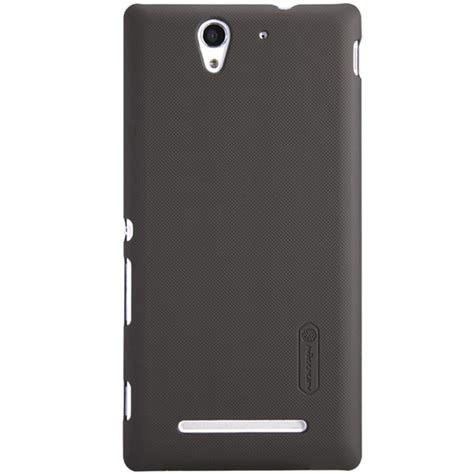 Nillkin Sony Xperia C3 S55t Frosted Shield Brown nillkin frosted shield protective for sony