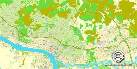 germany bremen map bremen germany printable vector city plan map in