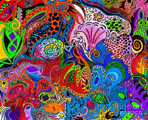 Colored Drawings Dreaming In Color Drawing By M West by Colored Drawings