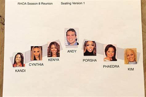 burruss seating chart where will the rhoa cast sit at the reunion show