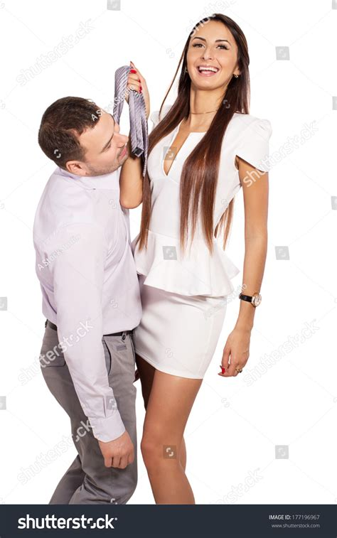 how to dominate in bed how to dominate your man in bed woman dominates man female boss berates stock photo