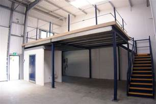 Steel Building Floor Plans Living Quarters how building a mezzanine can increase storage and office space