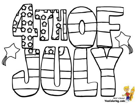 Coloring Page 4th Of July by Patriotic 4th Of July Coloring Pages 4th Of July Free