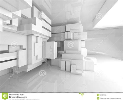 Abstract Interior Design by Abstract Empty White Room High Tech Interior 3d Stock