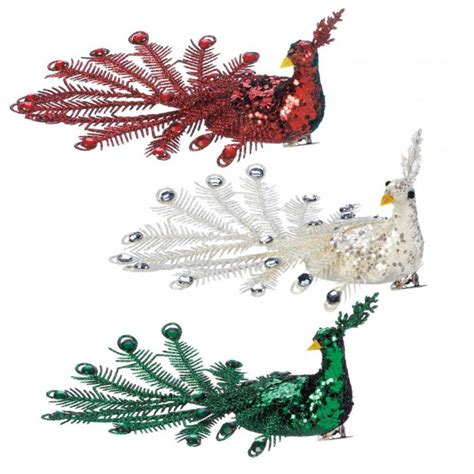 wholesale festive peacock ornament set seasonal home