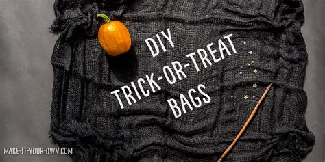 diy trick  treat bag ideas