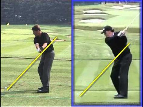 mickelson golf swing phil mickelson swing 2009 v 2012 youtube