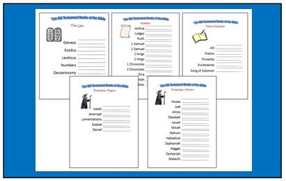 Books Of The Bible Worksheet by These Worksheet Are Great Way To Help Your Child Learn The