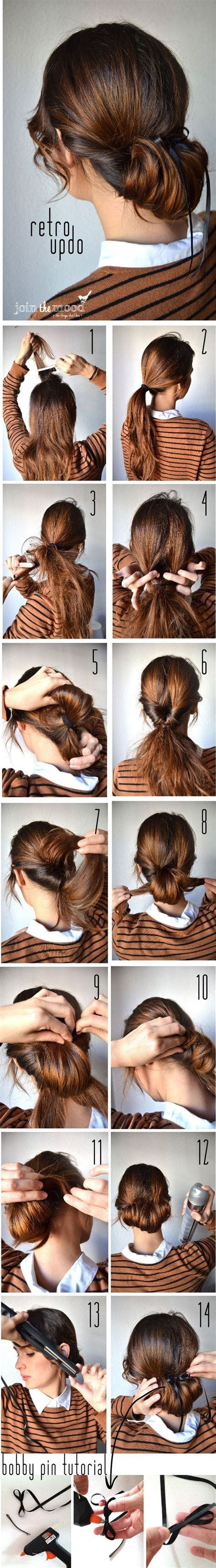 step by step vintage hairstyles 25 best ideas about simple updo tutorial on pinterest