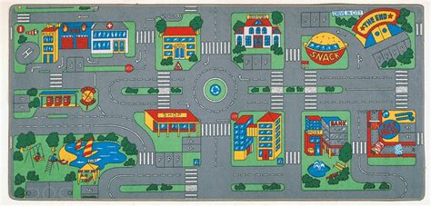 city play rug city play rug rectangle 36 quot x 80 quot lc104 learning carpets