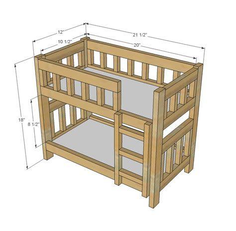 woodwork doll bed plans bunk bed  plans