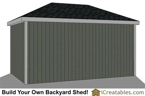 Hip Roof Garden Shed Plans 10x16 Hip Roof Shed Plans
